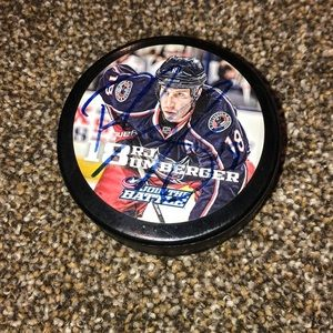 Other - SIGNED RJ UMBERGER PUCK WITH ADJACENT EPIC DECAL